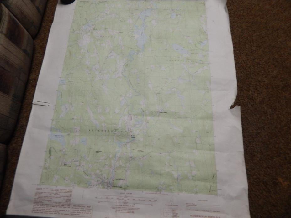 Topgraphic Map Peterborough North Quad, NewHampshire