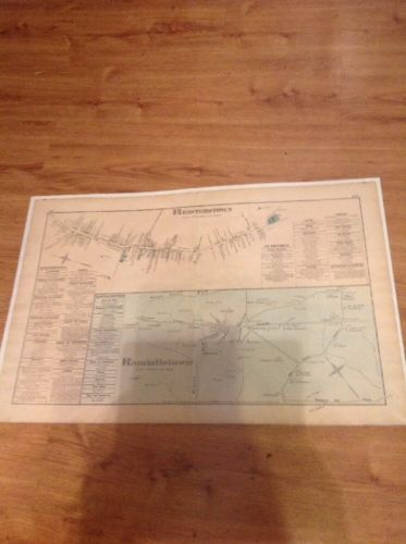 1877 G.M. Hopkins, Reisterstown And Randalstown Maryland Maps