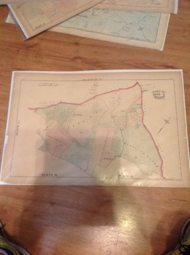 1877 G.M. Hopkins, John Carroll Property Dover Road Map