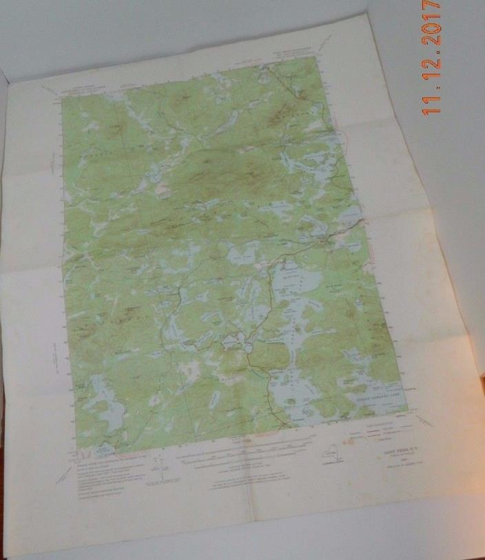 Saint Regis Quadrangal NY Topographic Map  US Geologic Survey 1975