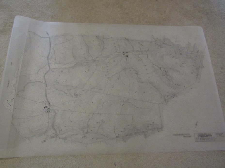 Vintage 1968 Cypress Point Tomales Bay Marshall California Topographical Map 5Ft