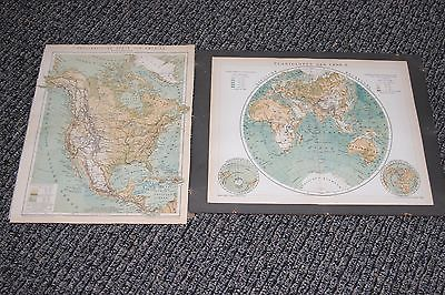 Vintage Map Geography Atlas