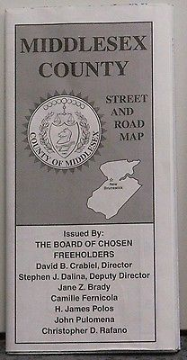 1999 Alfred Patton Street Map/Promotional Brochure of Middlesex County N.J.