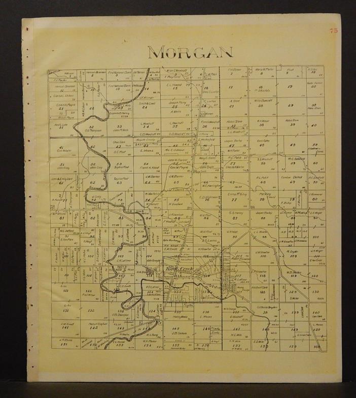 Ohio Ashtabula County Map Morgan Township 1905 !W16#44