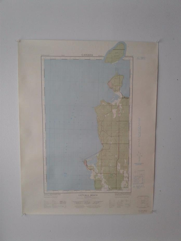 Vintage 1966 Topographical Maps of Pine Falls, Manitoba, Canada