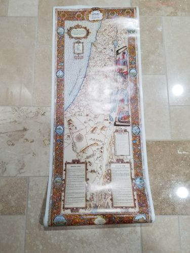 Touring Map of the Holy Land Wall Art Poster Decor History