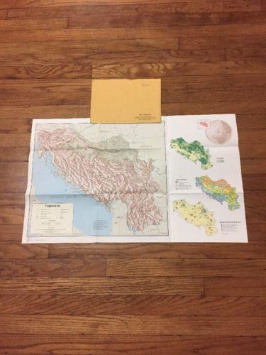 Vintage Original 1970's CIA Map of Yugoslavia