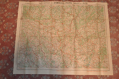 Ca 1910 (PRE WW1) Map for Automobiles and Cyclists North East France by A Taride