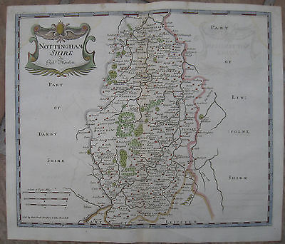 1722 Antique Map of