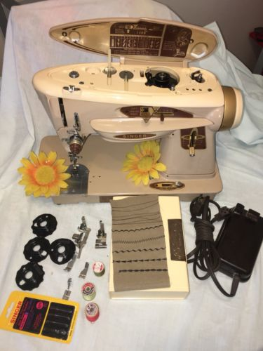 Vintage Singer 503A Metal Zig Zag Sewing Machine heavy Duty