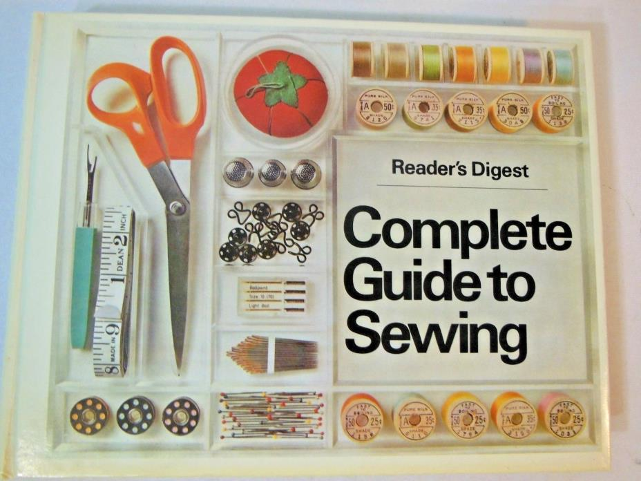 Vintage Readers Digest Complete Guide To Sewing 1976 Hardback
