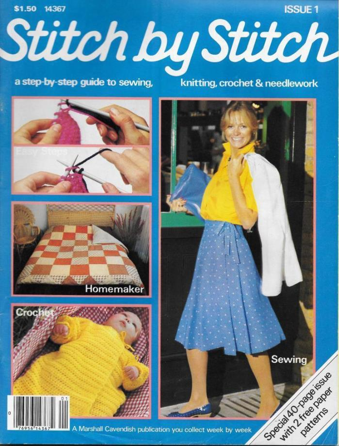 Stitch by Stitch Issue 1 Sewing Knitting Crochet & Needlework Magazine V2 DIY