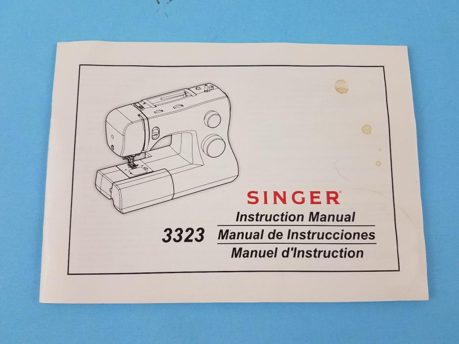 Singer 3323 Sewing Machine Instruction Manual
