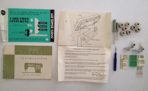 Sewing Machine Manual Sears Kenmore 1218, Sewing Bobbins, Needles, Tools