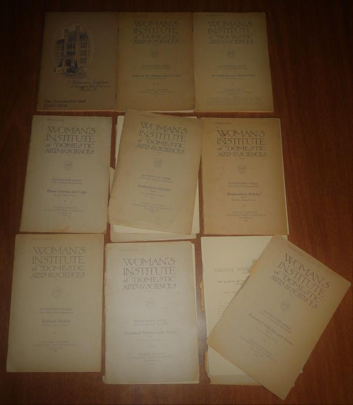 18 Scranton PA Womans Institute Booklets Dress Apron Cap Suit Making Patterns