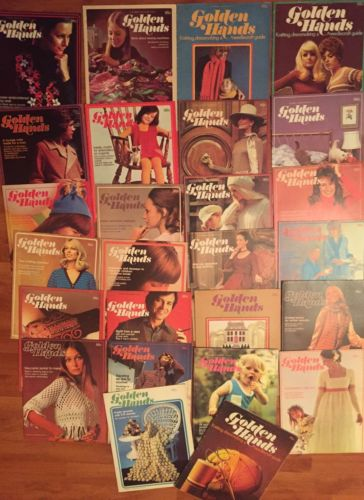 Lot Of 26 Vintage Golden Hands Knitting Magazine
