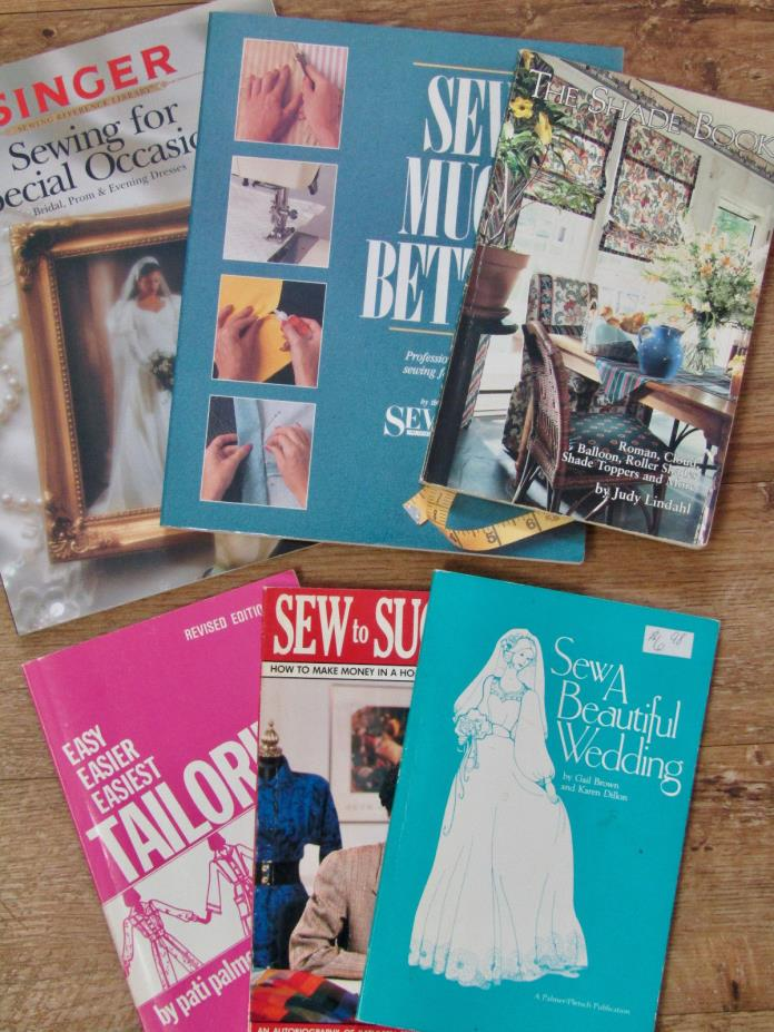 Sewing Books Wedding Special Occasions Tailoring Shades Lot Of Six