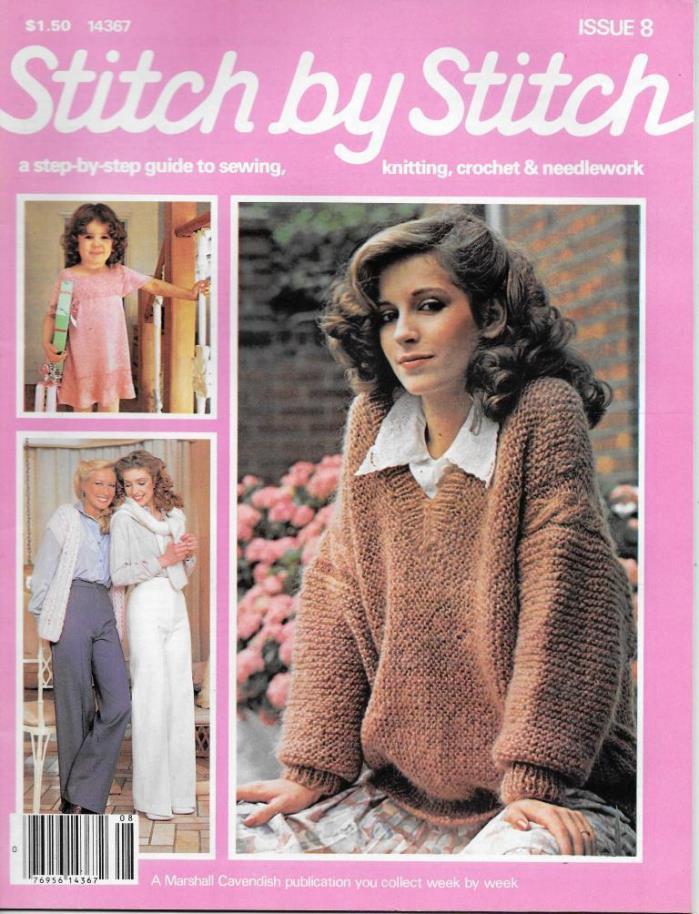 Stitch by Stitch Issue 8 Sewing Knitting Crochet & Needlework Magazine V2 DIY