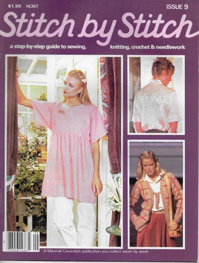 Stitch by Stitch Issue 9 Sewing Knitting Crochet & Needlework Magazine V2 DIY