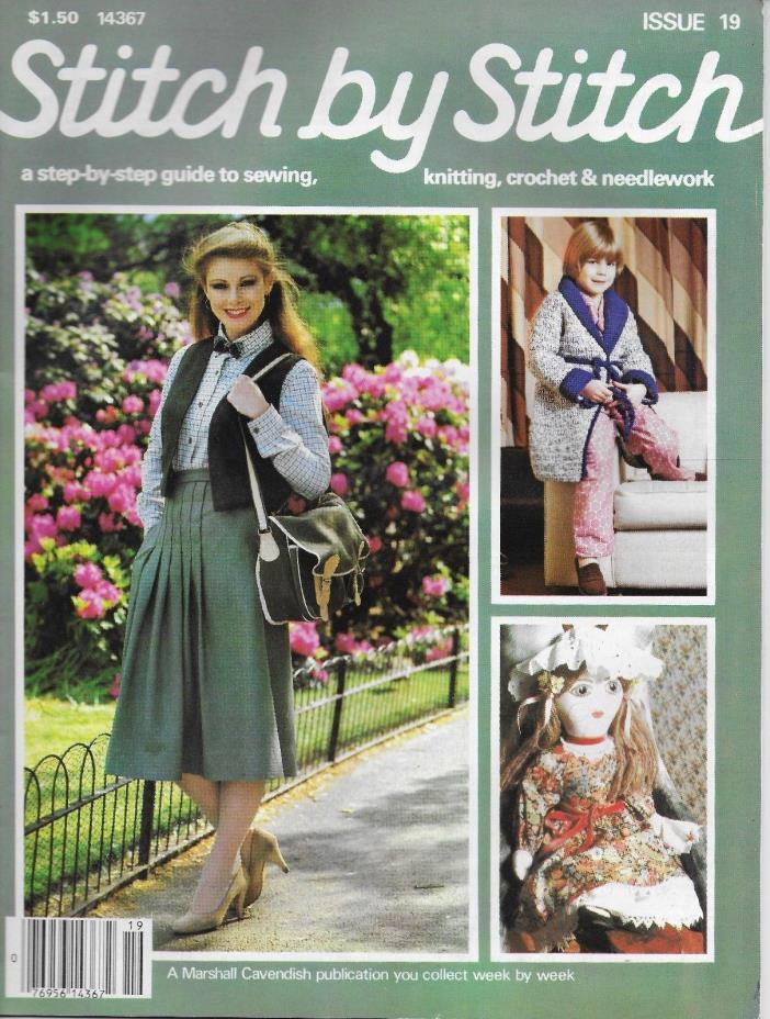 Stitch by Stitch Issue 19 Sewing Knitting Crochet & Needlework Magazine V2 DIY