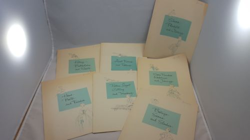 1957 SINGER SEWING SKILLS LESSONS Books (8 lessons total)