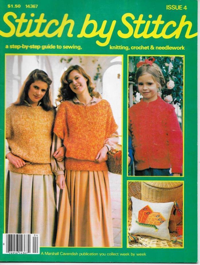 Stitch by Stitch Issue 4 Sewing Knitting Crochet & Needlework Magazine V2 DIY