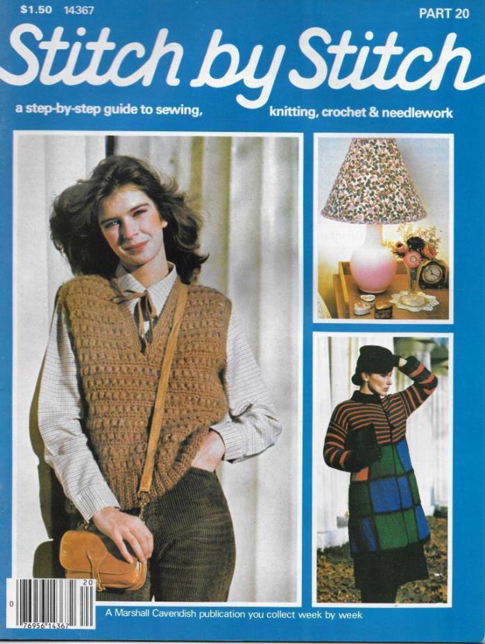 Stitch by Stitch Issue 20 Sewing Knitting Crochet & Needlework Magazine V2 DIY