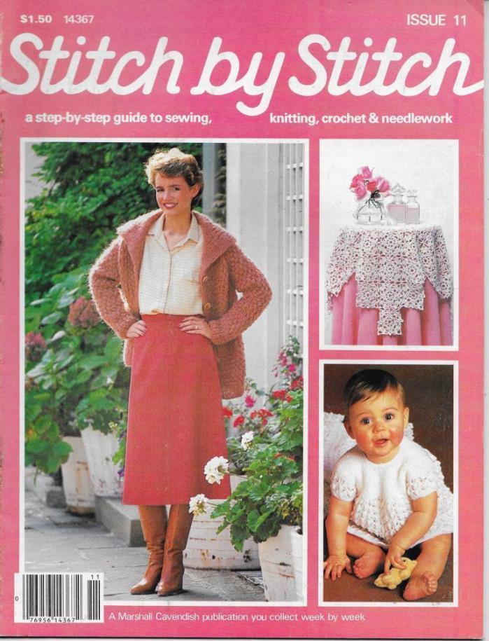 Stitch by Stitch Issue 11 Sewing Knitting Crochet & Needlework Magazine V2 DIY