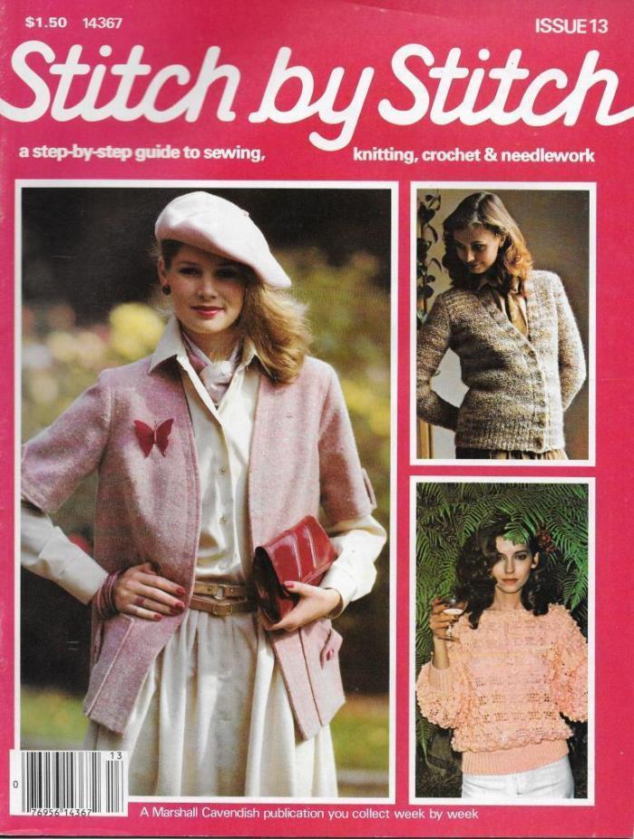 Stitch by Stitch Issue 13 Sewing Knitting Crochet & Needlework Magazine V2 DIY