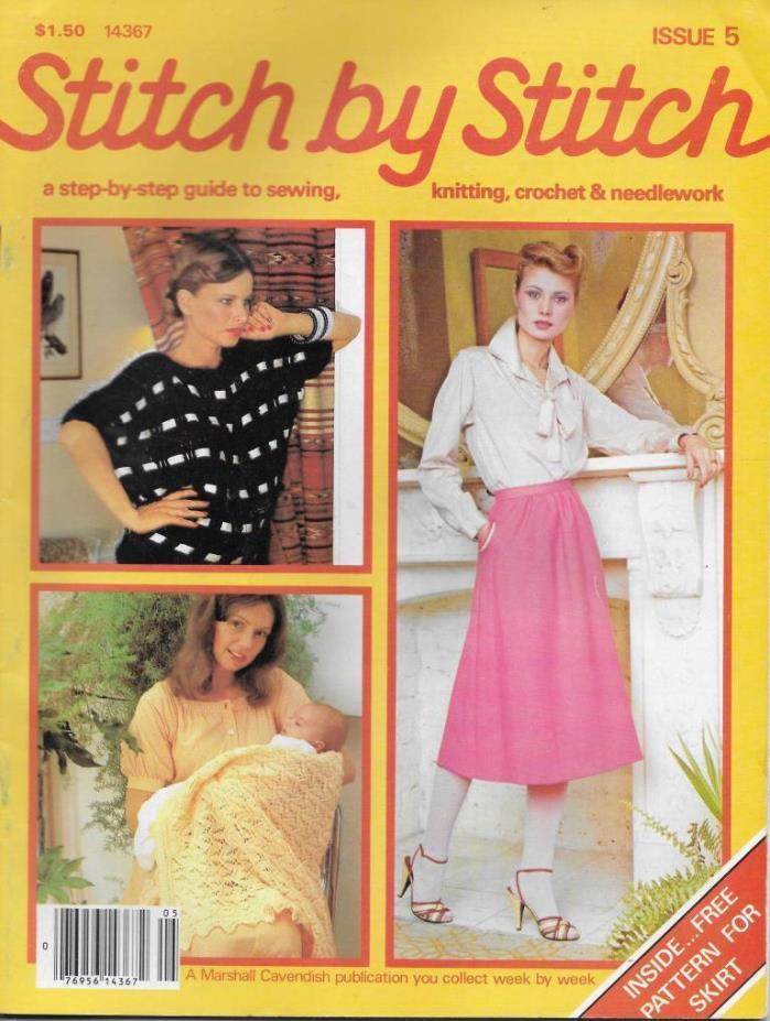 Stitch by Stitch Issue 5 Sewing Knitting Crochet & Needlework Magazine V2 DIY