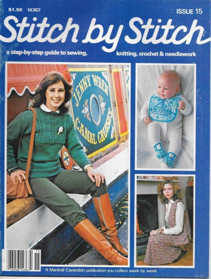 Stitch by Stitch Issue 15 Sewing Knitting Crochet & Needlework Magazine V2 DIY