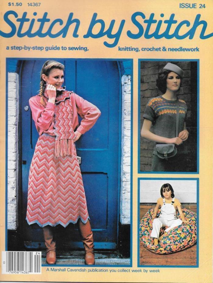 Stitch by Stitch Issue 24 Step Sewing Knitting Crochet & Needlework Magazine V2