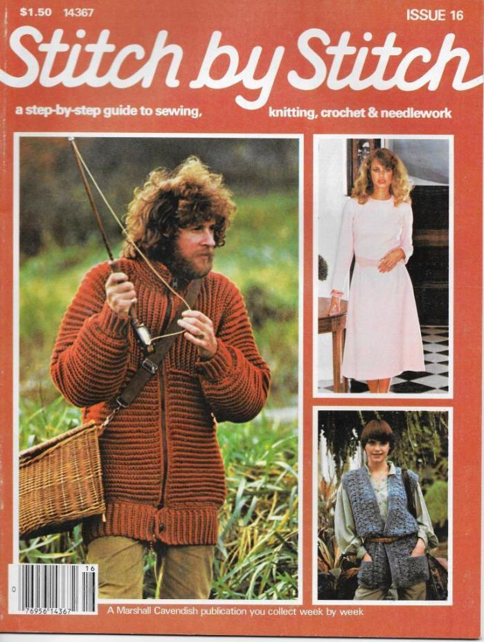Stitch by Stitch Issue 16 Sewing Knitting Crochet & Needlework Magazine V2 DIY
