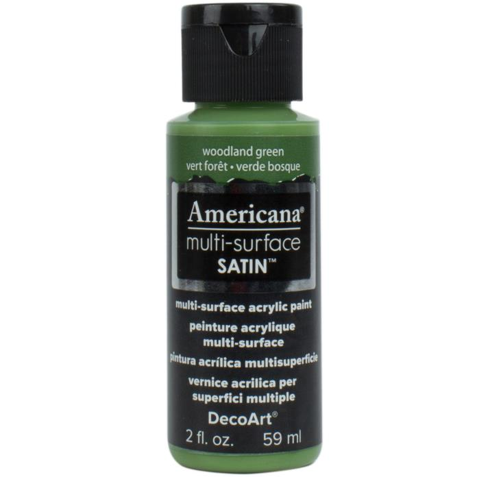 Americana Multi-Surface Satin Acrylic Paint 2oz-Woodland Green