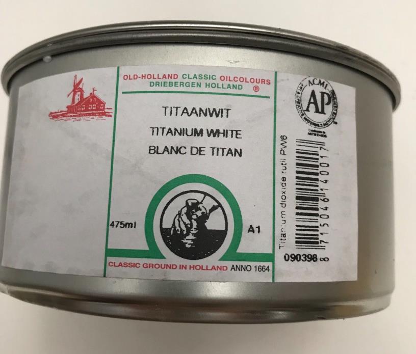 Old Holland NEW 475 ml Titanium White Classic Oil Colours Paints Art Supplies