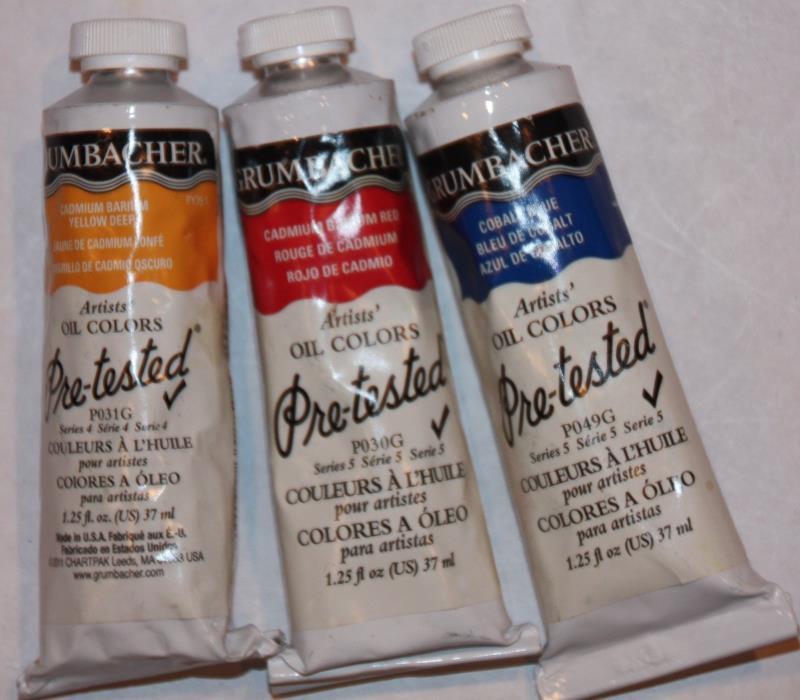 Vintage formula 3 GRUMBACHER Artist's Oil Paint's SERIES 4 & 5