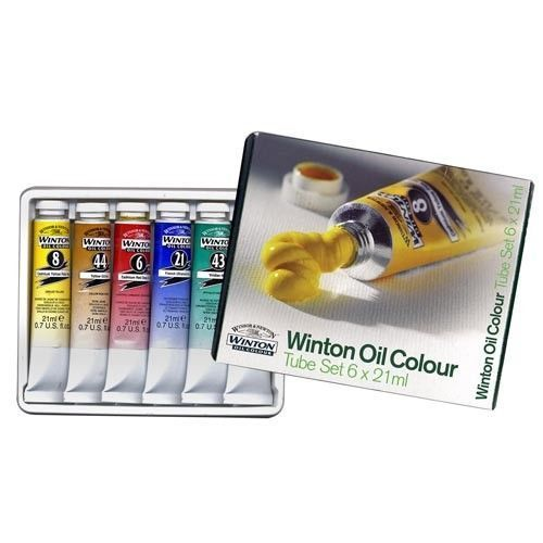 Winsor and Newton Winton Oil Colors 6 Tube Set NEW