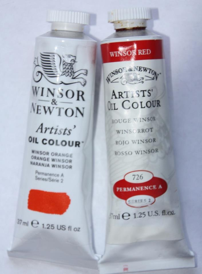 Winsor & Newton Oil Paint-WINSOR ORANGE & WINSOR RED-Series 2