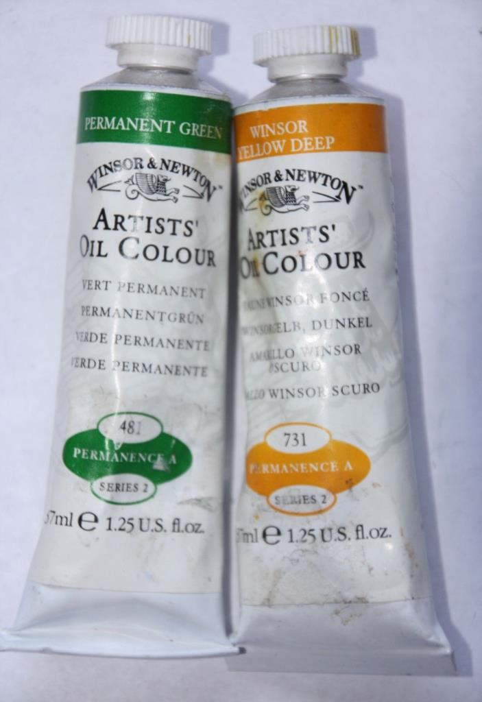 Winsor & Newton Oil Paint-PERMANENT GREEN & WINSOR YELLOW DEEP-Series 2