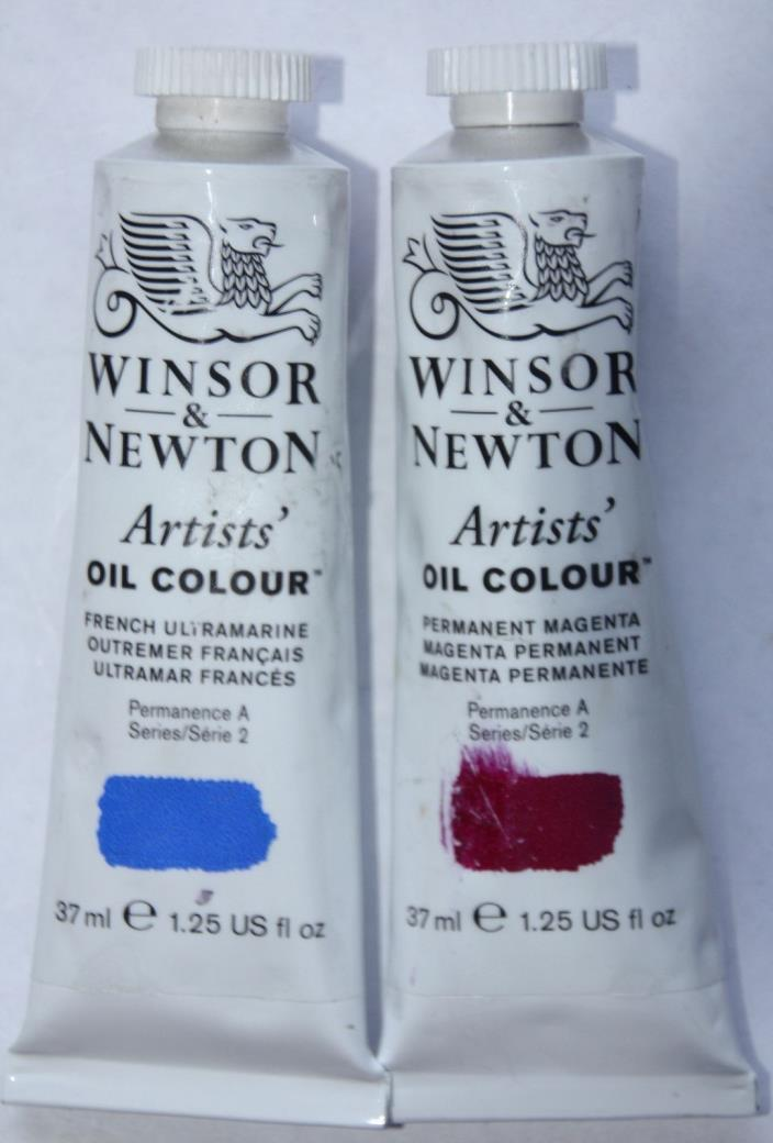 Winsor & Newton Oil Paint-FRENCH ULTRAMARINE & PERMANENT MAGENTA Series 2