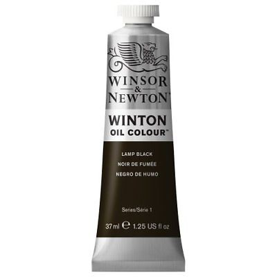 Winsor & Newton Winton Oil Colour Tube 37ml Lamp Black Paint Painting Supplies