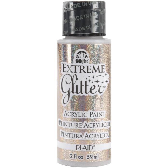 FolkArt Extreme Glitter Paint 2oz-Champagne