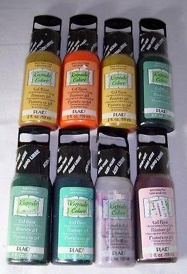 Bulk Lot 8 ct. Plaid Keepsake Colors Gel Paint 2 oz ea Various Colors Craft New