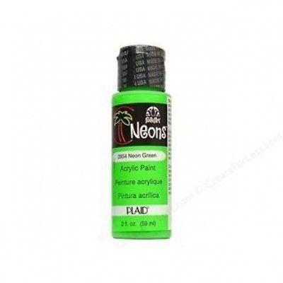 (Neon Green) - 2oz Neon Green Acrylic Paint. CraftKitsAndSupplies. Free Shipping