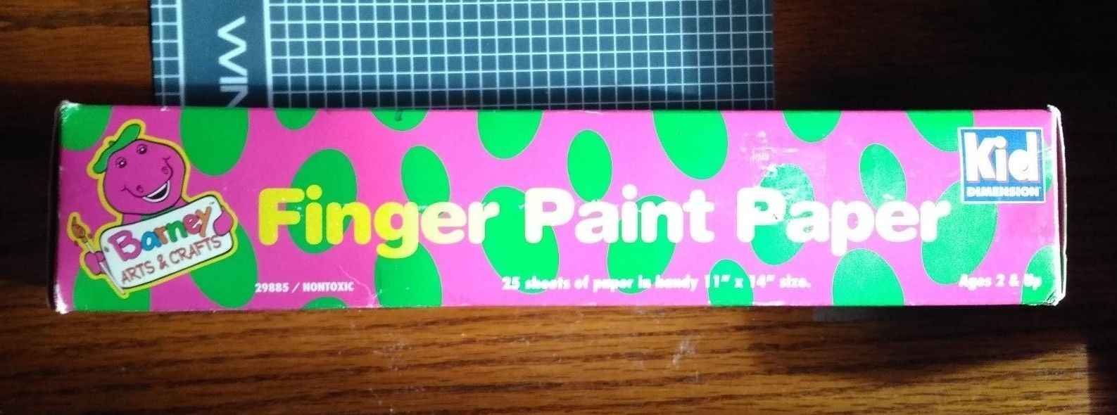 "Barney Finger Paint Paper NIP  25 Sheet; each is 11"" x 17""  Barney Arts & Crafts"