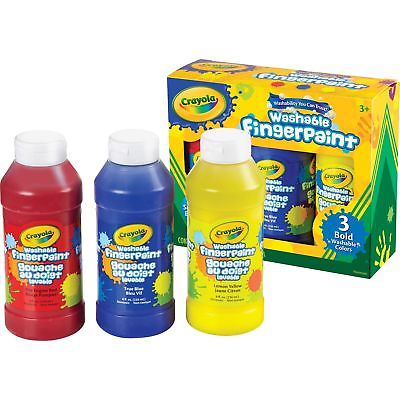 Crayola Washable Fingerpaint 8oz. 3/ST Ast 551310