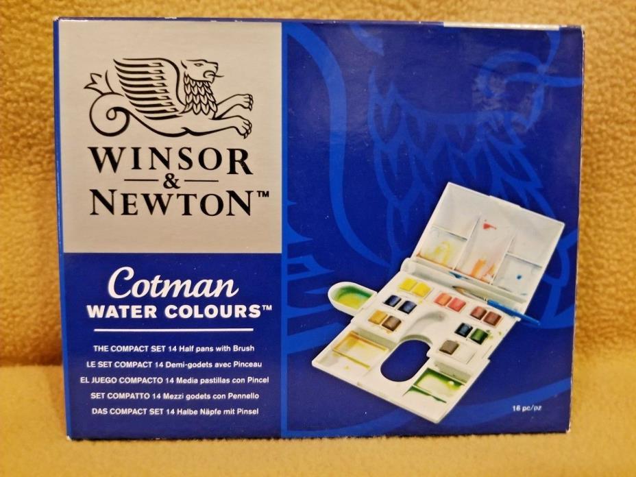 Winsor & Newton Cotman Watercolor Compact Set 0390083 FREE SHIPPING NEW