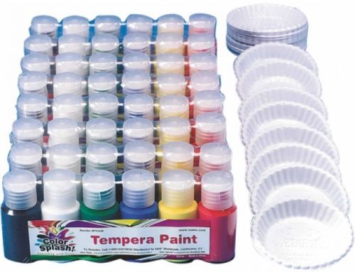 Color Splash! Liquid Tempera Paint Pass Around Pack, Pack Of 48