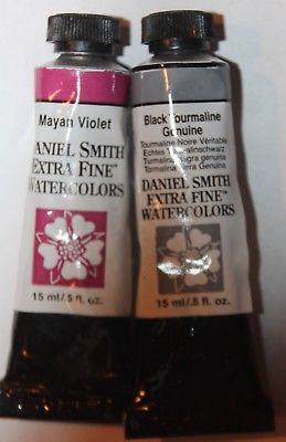 2 DANIEL SMITH Extra Fine Watercolor Paint:15ml-VIOLET & TOURMALINE-Series 3