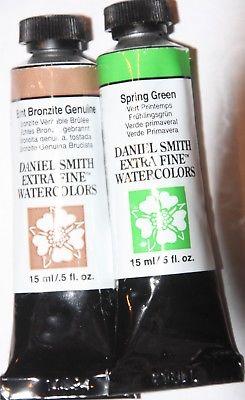 2 DANIEL SMITH Extra Fine Watercolor Paint:15ml-BRONZITE & GREEN-Series 3